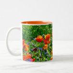 Beautiful orange poppy flower coffee mug