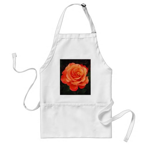 Beautiful orange rose petals print apron