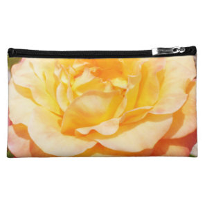 Beautiful Orange Rose Photo Cosmetic Bag