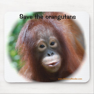 Beautiful Orangutan baby Mouse Mat