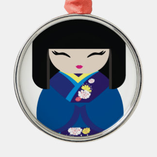 Beautiful Oriental Chinese Japanese Doll Christmas Ornament