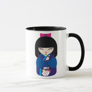 Beautiful Oriental Chinese Japanese Doll Mug