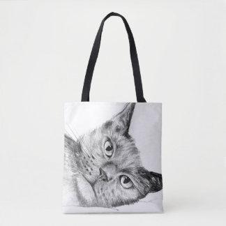 Beautiful original cat design tote bag