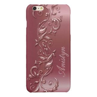 Beautiful Ornate Rose Gold Design iPhone 6 Plus Case