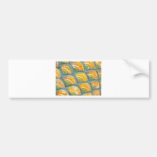 Beautiful ornate tiled pattern bumper sticker