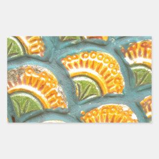 Beautiful ornate tiled pattern rectangular sticker