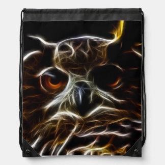 Beautiful Owl Drawstring Bag