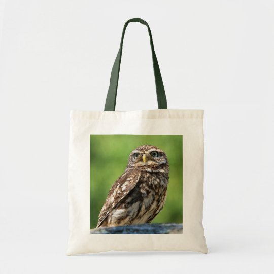 Beautiful Owl photo shopping tote bag