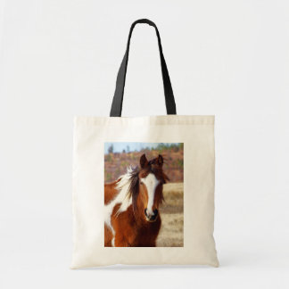 Beautiful Paint Horse Tote Bags