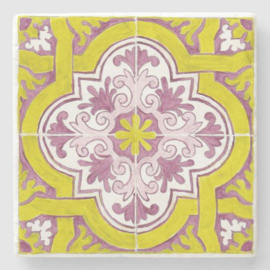 Beautiful Painted Portuguese Tile Marble Coaster
