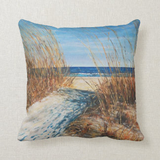 Beautiful Painted Sand Dunes And Beach Painting Cushion