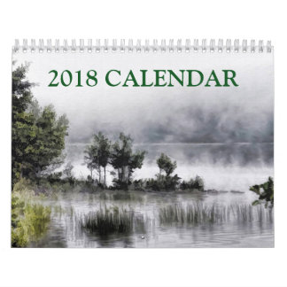 Beautiful Painting Abstract Art of Landscape 2018 Calendar