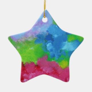 Beautiful, painting-like, joyful mixture of colors christmas ornament