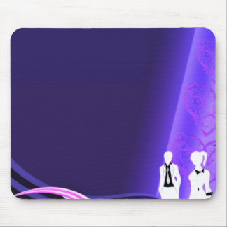 Beautiful pair dressed in black and white mouse pad