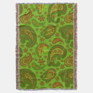 Beautiful Paisley | olive green brown