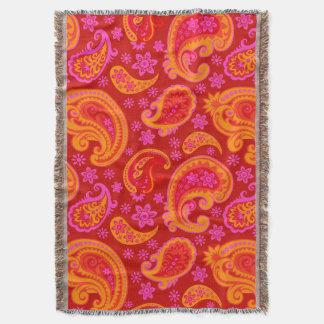 Beautiful Paisley | red orange saffron
