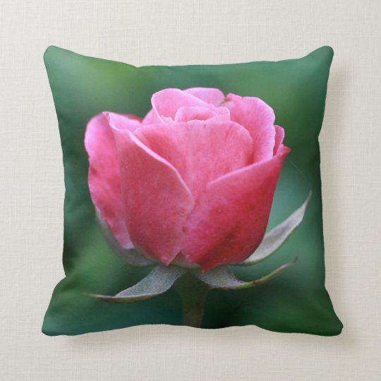 Beautiful Pale Red / Pink Rose Throw Pillow