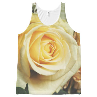 Beautiful Pale Yellow Rose All-Over Print Tank Top
