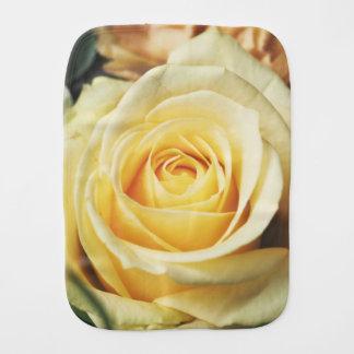 Beautiful Pale Yellow Rose Burp Cloth