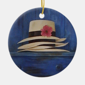 Beautiful Panama Hats wall hanging ornament