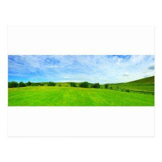 Beautiful panorama of summer landscape in Scotland Postcard