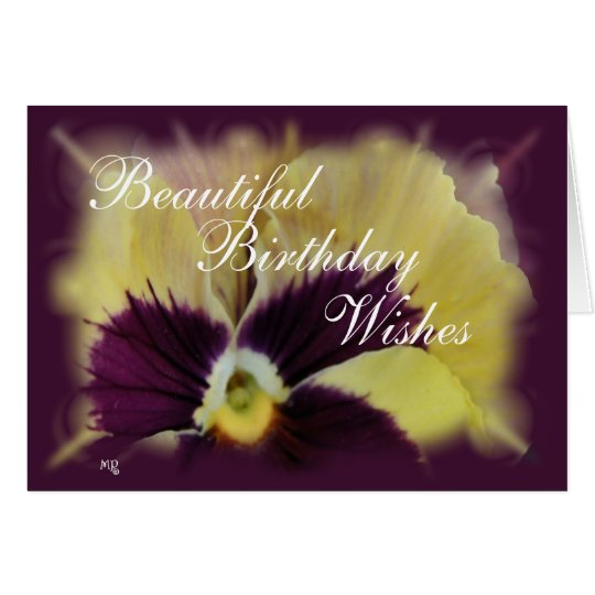 Beautiful Pansy-customise any occasion Card