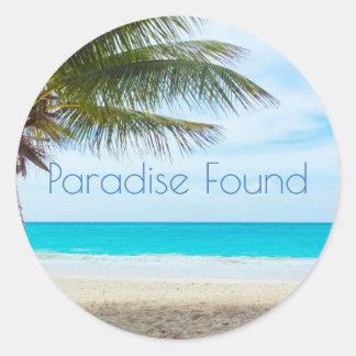 Beautiful Paradise Found Classic Round Sticker