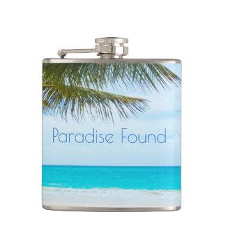 Beautiful Paradise Found Hip Flask