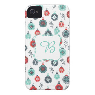 Beautiful Pastel Christmas Hanging Balls and Pine Case-Mate iPhone 4 Cases