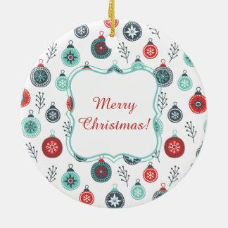 Beautiful Pastel Christmas Hanging Balls and Pine Christmas Ornament