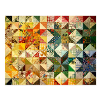 Beautiful Patchwork Postcard