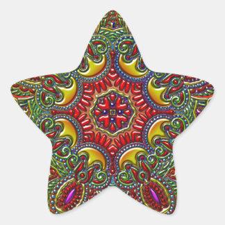 Beautiful Pattern Metallic Rainbow Star Sticker