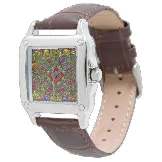 Beautiful Pattern Metallic Rainbow Watch