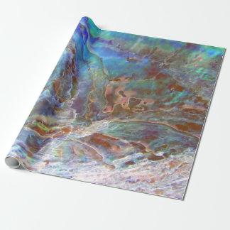 Beautiful Paua Black Abalone New Zealand Shell Wrapping Paper