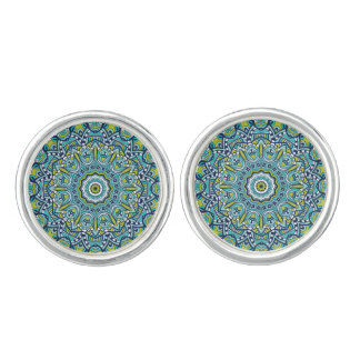 Beautiful Peace Mandala Cuff Links