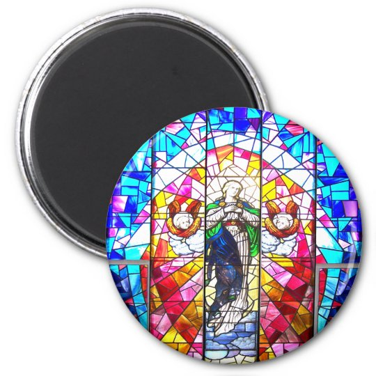Beautiful Peaceful Colourful painted glass Angels Magnet