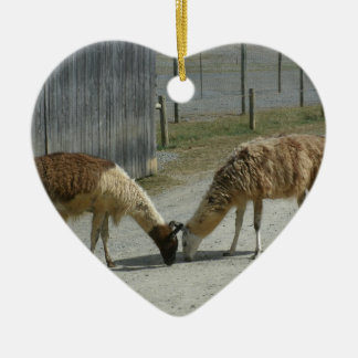 BEAUTIFUL, PEACEFUL, LLAMAS. CHRISTMAS ORNAMENT