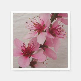 Beautiful Peach Blossom Napkins