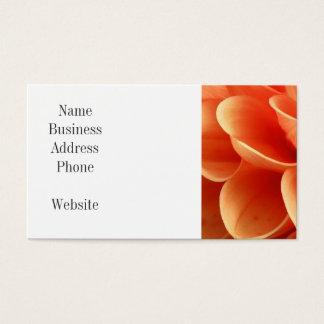 Beautiful Peach Colored Dahlia Flower Petals Business Card