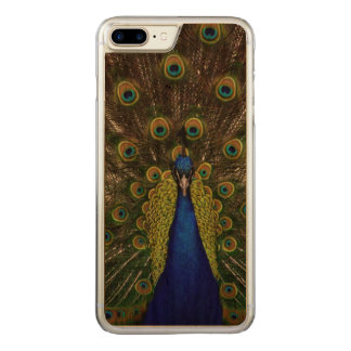 Beautiful Peacock Carved iPhone 8 Plus/7 Plus Case