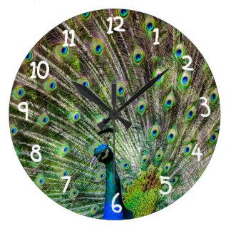 Beautiful Peacock Clock