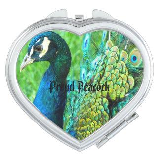 Beautiful Peacock Compact Mirror