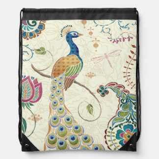 Beautiful Peacock Drawstring Bag