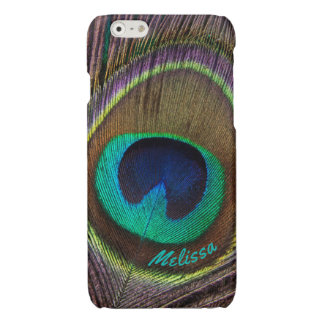 Beautiful Peacock Feather Eye, Your Name iPhone 6 Plus Case