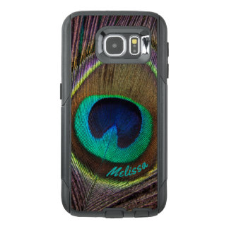 Beautiful Peacock Feather Eye, Your Name OtterBox Samsung Galaxy S6 Case