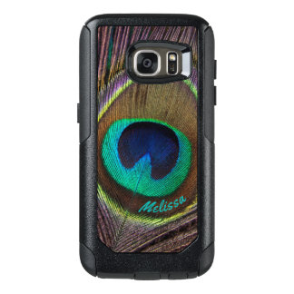 Beautiful Peacock Feather Eye, Your Name OtterBox Samsung Galaxy S7 Case