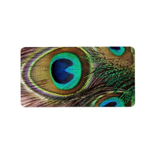 Beautiful Peacock Feathers Address Label