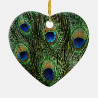 Beautiful Peacock Feathers Christmas Ornament