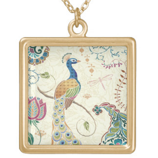 Beautiful Peacock Gold Plated Necklace