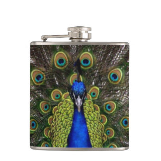 Beautiful Peacock Hip Flask